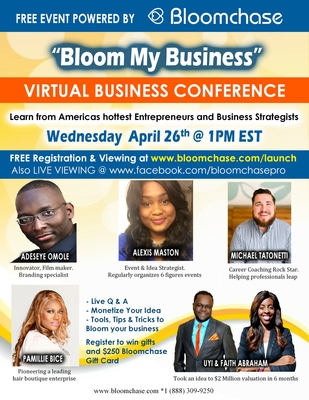 Bloom My Business Virtual Conference